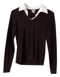 Worth Silk Blend Knit Dickie Top Black