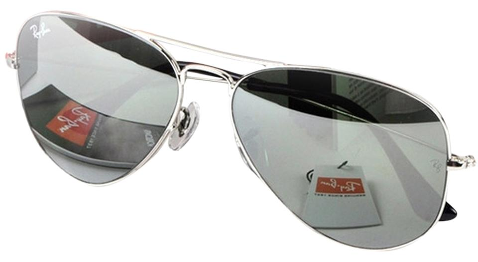 53b29eeea1e01 Ray-Ban Authentic Ray-Ban Aviator RB3025 W3277 Silver Mirror with Silver  Frame Size ...