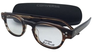 Converse New CONVERSE Eyeglasses P002 UF 46-22 150 Brown Horn Frame w/ Clear Demo Lenses