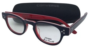 Converse New CONVERSE Eyeglasses P002 UF 46-22 150 Navy Stripe - Blue White on Red Frame