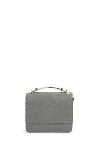JustFab Snakeskin Shoulder Bag