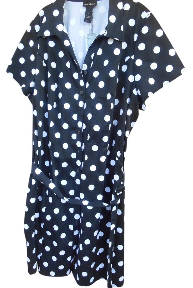 d598842663 Lane Bryant short dress Black with large polka dots. Shirtwaist Business  And White on Tradesy ...
