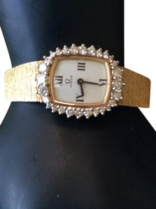 Omega Vintage Omega Watch In 18k Solid Gold And Diamonds