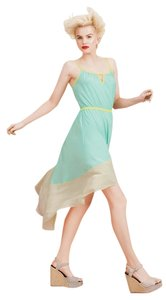Teal/Cream/Yellow trim Maxi Dress by Willow & Clay