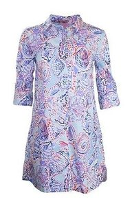 dcae4f0da48 Lilly Pulitzer short dress Multi-Color Jupiter Island Tunic In Shell Me  About It on