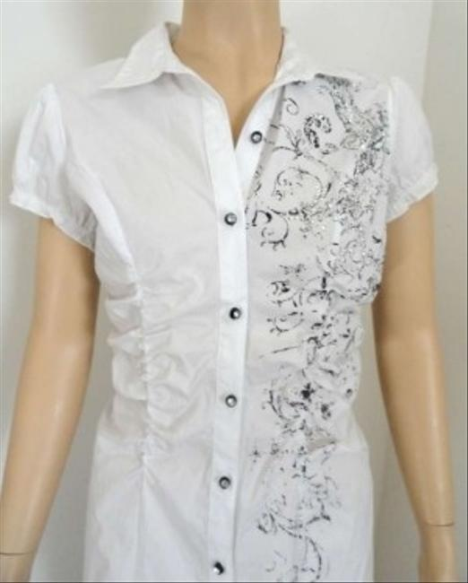 Vanity Button Down Shirt White