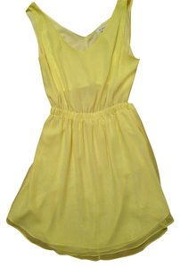 BCBGeneration short dress Yellow Open Back on Tradesy