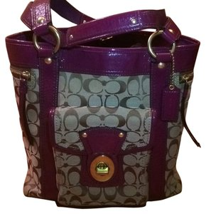 Coach Tote in Brow and Plum