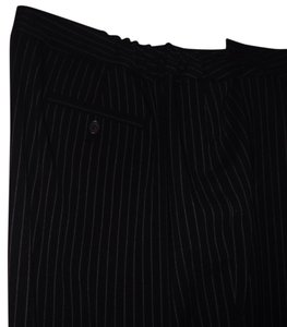 Jones New York Trouser Pants Black w tan pin stripe