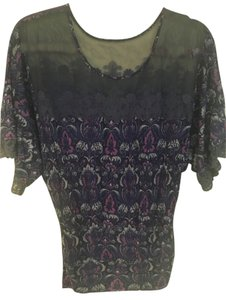 Free People Flowy Top Dark Blue, Purple, and Gray