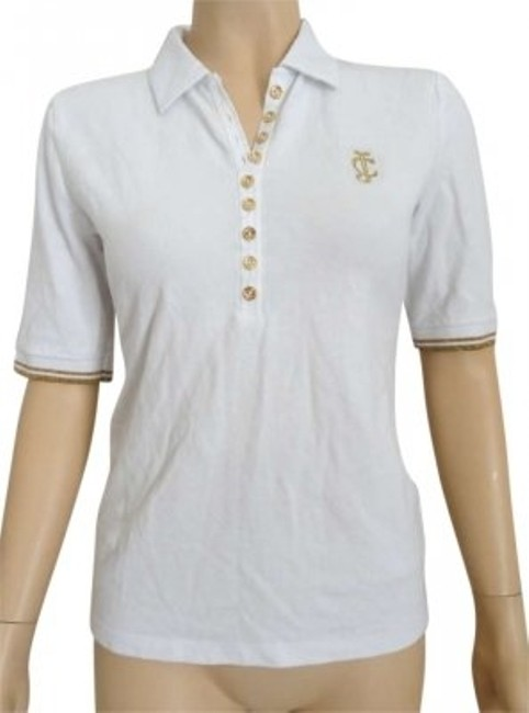 Preload https://item2.tradesy.com/images/juicy-couture-white-small-gold-threading-detail-blouse-size-4-s-138671-0-0.jpg?width=400&height=650
