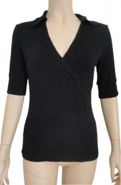 Preload https://img-static.tradesy.com/item/138674/ann-taylor-black-small-stretch-collared-blouse-size-4-s-0-0-650-650.jpg