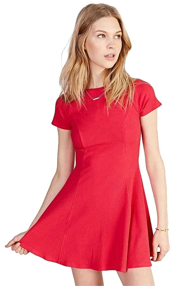 8b15b7ecb289 BDG short dress Fit and Flare Red Skater Dress on Tradesy Image 0 ...