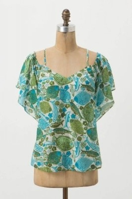 Anthropologie Top Blues/Greens