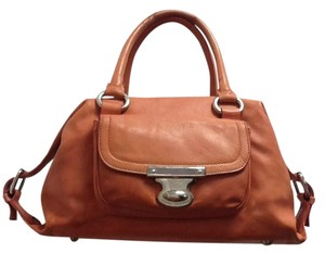 Marc Jacobs Coral Leather Classic Vintage Satchel in Orange