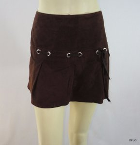 Vakko Elements By Mini Skirt Brown