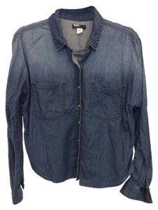 BDG Button Down Shirt Blue