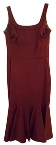 Donna Ricco Fitted Maroon Dress