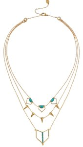 Stella & Dot Turquoise Stone Layering Necklace