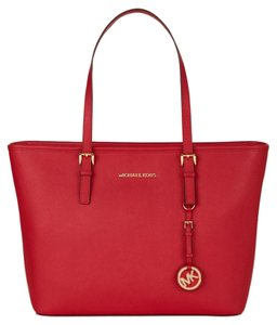 Michael Kors Red Leather Tote in Chili