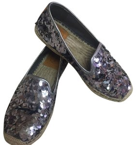 Tory Burch Pewter, tan Flats