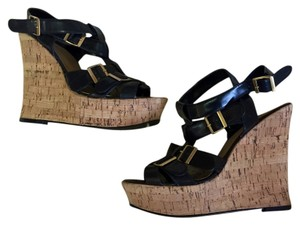ALDO Black, tan Wedges