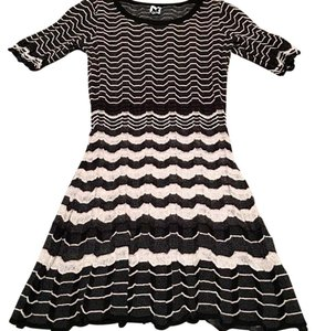Missoni short dress Black and white Spring Summer Mixed Print on Tradesy
