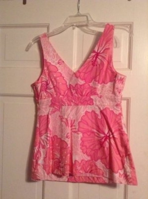 Lilly Pulitzer Top Pink Floral