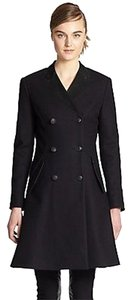 Rag & Bone Cate Long Suede Double-breasted Jacket Pea Coat