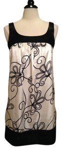 London Times short dress Black White Size 8 on Tradesy