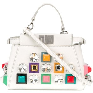 Fendi Peekaboo Satchel in White