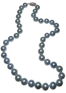 New 8mm Fresh Water Pearl Necklace Light Blue J2282