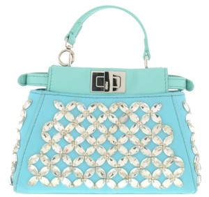 Fendi Peekaboo Satchel in Blue