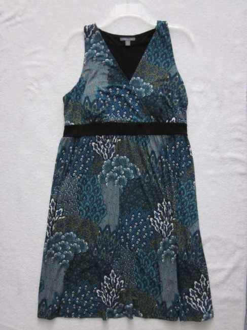 Apt. 9 short dress Blue Green Floral Print Travel Packing Pattern Aqua Teal on Tradesy