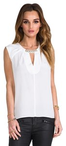 BCBG Max Azria Silke Lauren Bluse Night Out Top White