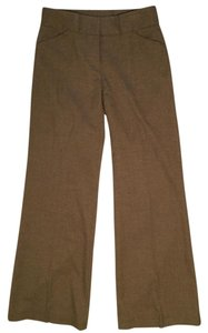 Antonio Melani Brown Work Pleated Work Brown Dress Slacks Dress Flare Pants