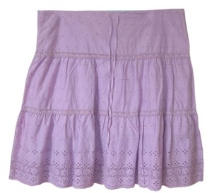 Juicy Couture Eyelet Eyelit Skirt Lavander