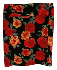 Forever 21 Mini Cotton Machine Washable Mini Skirt Roses