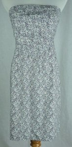 J.Crew short dress Multi-Color Factory Strapless Floral Print on Tradesy