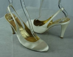 J.Crew Cate Satin Slingbacks Wedding Ivory Pumps