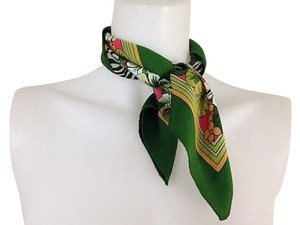 Womens Multi Color Green Floral Scarf