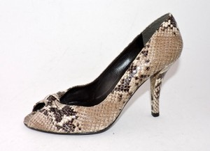 Stuart Weitzman Snakeskin Brown Pumps