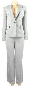 Le Suit NEW Womens Vienna Gray Twill 2PC Pintuck Pant Suit Petite Size 16P