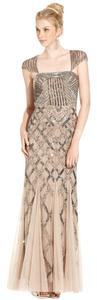 Adrianna Papell Evening Gown Beaded Dress