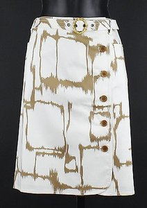 Worth White Toast Front Belted B26 Skirt