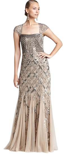 12079625e91 Adrianna Papell Nude Cap Sleeve Beaded Dress - 25% Off Retail free shipping