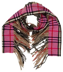Burberry Brown, black, pink multicolor Nova check Burberry Happy cashmere scarf New