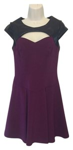 Betsey Johnson short dress Maroon & Black on Tradesy