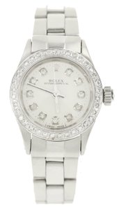 Rolex Rolex Oyster Perpetual with Aftermarket Diamonds