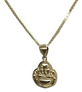 18K Yellow Gold Happy Buddha Pendant
